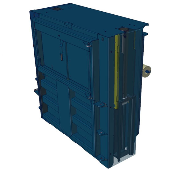 low height baler cylinder view